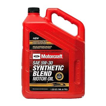 שמן מנוע 5W30 גלון 5 ליטר בצבע אדום MOTOCRAFT